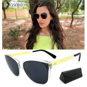 Oculos De Sol Feminino Lente Transparente - Óculos De Sol no Mercado ... 5152635840