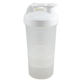 Vaso Mezclador Shaker Proteina Cilindro Gym Blanco
