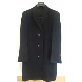 Abrigo Negro Marca Calderoni Talla 38 Regular Como Nuevo!!!