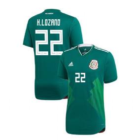 712d2adc4 Camisa De México 2018 Con El Nombre De Irving Lozano en Mercado ...