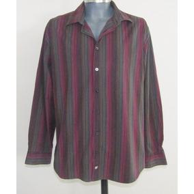 Bachrach Camisa Rayada De Algodon Talla Extra Grande