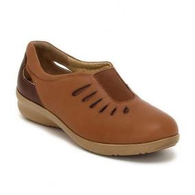 Zapatos Clinicus 1766 Cafe Damas Ancho Doble 22-27