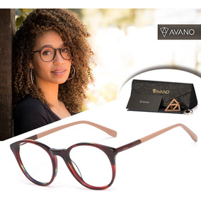 Armação Oculos Grau Feminino Avano Av 88-c Acetato Original. R  80 e79cbdab1e