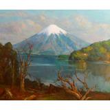 Cuadro Oleo Pacheco Altamirano. 1.20 X 1.40. Volcan Osorno.