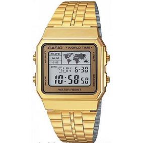 6fc0c62a9ef Relogio Quadrado Dourado Casio - Relógios De Pulso no Mercado Livre ...