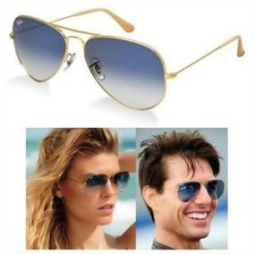 8aeea06fa Óculos Ray Ban Aviador Lentes De Cristal Azul Degradê Sol - Óculos ...