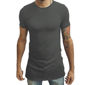 ffb277832e Camisa Masculina Estilo Oversized Swag Longline Quadrada