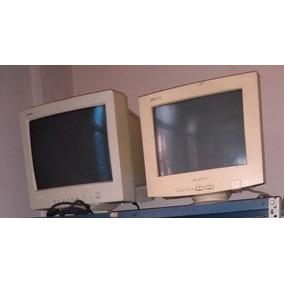 5 Monitores 15 Trc Funcionando!! Monitor De Tubo!