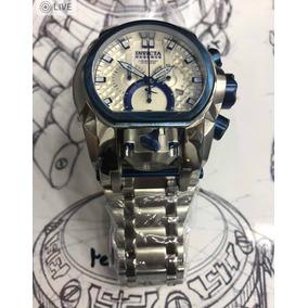 Relógio Invicta Bolt Zeus Magnum Prata Azul Kadu