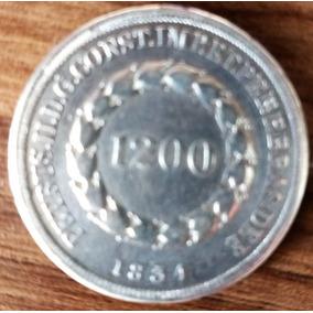 1.200 Réis - Cruzados Anos:1834 Prata 26,4g 37mm P252 891pç