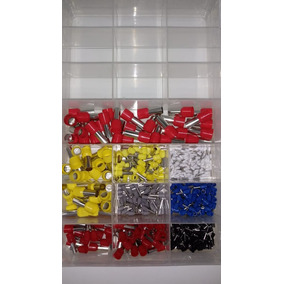 Kit Terminal Elétrico Tubular Ilhos + Pré Isolados 600pçs