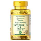 Vitamina D3 5000 Ui 200 Cap Softgels (importada) - Puritan