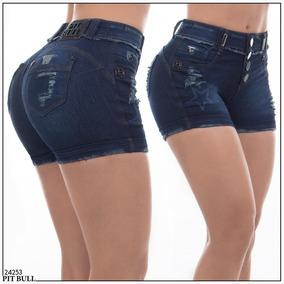 Shorts Pit Bull Jeans, Com Elastano E Bojo Removível.