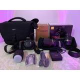 Nikon D5500 Con 3 Lentes Y Maleta