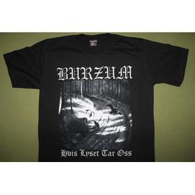 Gusanobass Playera Rock Metal Burzum Hvis Black Death X L