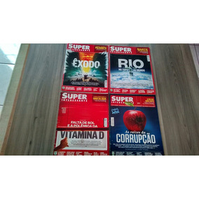Lote 4 Revistas Super Interessante 2015