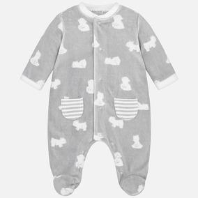 Mameluco Gris Mayoral Bebé 2724, 0 Meses Recién Nacido