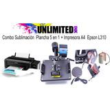 Impresora Y Plancha 5 En 1 Para Sublimación Y Transfer