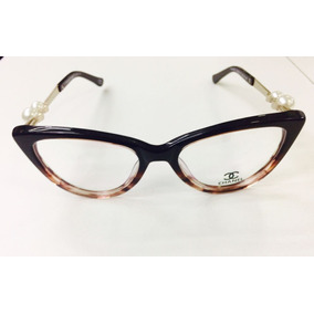 Óculos Chanel Com Pérolas Armação - Óculos no Mercado Livre Brasil 154c0f5e9a