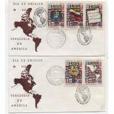 Sobres Primer Dia Venezuela Año 1972 Venezuela En America