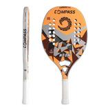Raquete Beach Tênis Neon Com Capa - Compass - Full Carbon