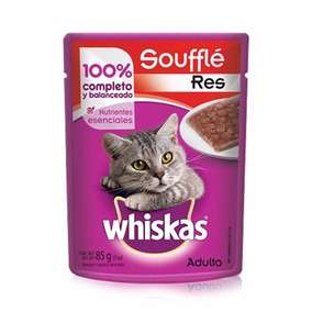 Whiskas Jelly Pouch Souffle Res Adulto 85gr Sobre Trozos