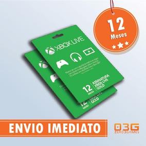 Xbox Live Gold 12 Meses Xbox One / 360 - Cartão 25 Dígitos