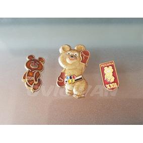 3 Pines Misha Mascota Juegos Olímpicos Moscú Rusia 1980 Pins aa724d7b80547
