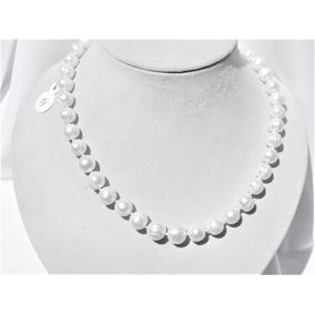 Collar De Perla 10 Mm Agua Dulce 46 Cm 50 % Descuento Nr.44
