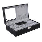 Estuche Caja Organizadora Con Cerradura Y Espejo 8 Relojes