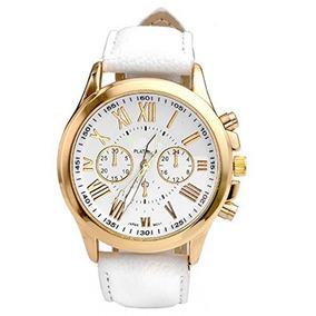 dc962b68ae9 Relógios Feminino Pulseira Em Couro Retro Vintage Luxo Gold