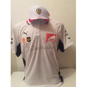 2f5092f973 Kit Camiseta Polo + Bone Ferrari Branco Promoçao