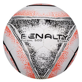 Bola Penalty Storm 500 Viii Futsal Branca E Laranja e02305b8414cc