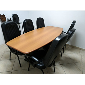Mesa De Reunião + 6 Cadeiras