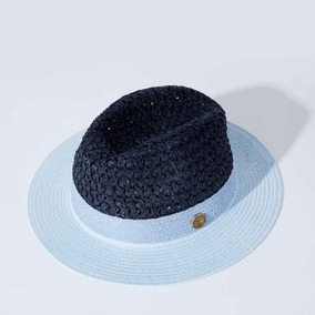 Sombrero Panamá Para Playa Vintage Azul Para Dama Primavera 8aa96ba18e3