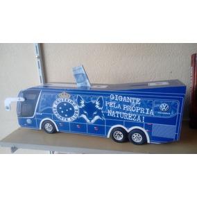 Miniatura De Ônibus Do Cruzeiro Com Cofre.