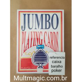 Baralho Gigante 20,5x28 Jumbo-vermelho Truco-magica-cartas