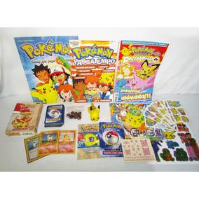Pokémon Deck + Revistas + Álbum + Adesivos + Boneco Pikachu