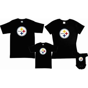 Pkt 4 Playeras Steelers Logo 1 Pittsburgh Tipo Nfl Familia 6ce64e7f15c