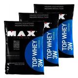 Kit Atacado 3 Whey Protein Isolado / Conc Top 3w 5,4kg Total