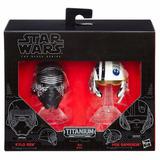 Cascos Kylo Ren Y Poe Dameron Star Wars Titanium Hasbro