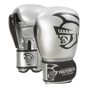Luva De Boxe/muay Thai Pretorian Elite Training 16oz Silver