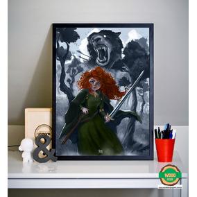 Quadro/poster Merida (valente- Disney) A3