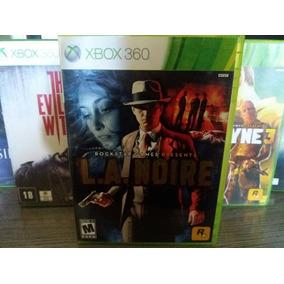 Jogo L.a. Noire Xbox 360 Original Mídia Física Completo