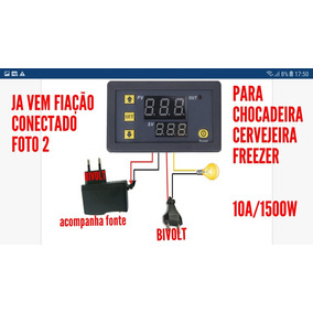 2termostato Digital Bivolt P Chocadeira Freezer Cervejeira