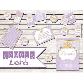 Kit Imprimible Princesa Sofia Corona Shabby Arte Candy Bar