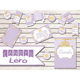 Kit Imprimible Princesa Sofia Corona Candy Bar Deco Mesa