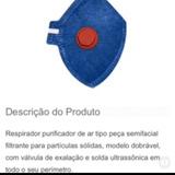 100 Máscara De Proteção Pff1 Com Válvula Contra Poeiras Pó 8e4d1c157a