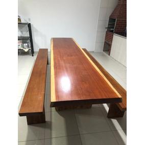 Mesa Em Madeira Maciça 4 Mts De R$ 6990 Por R$ 4490