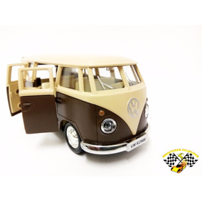 Miniatura Volkwagen Kombi 1962 Marrom Esc. 1:32 Rmz Raridade